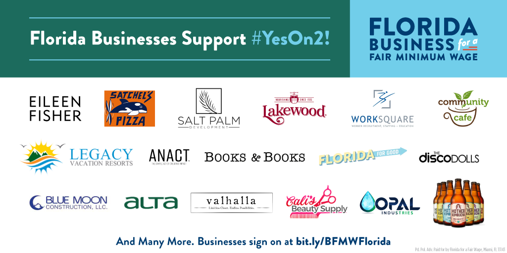 Florida Businesses Support #YesOn2