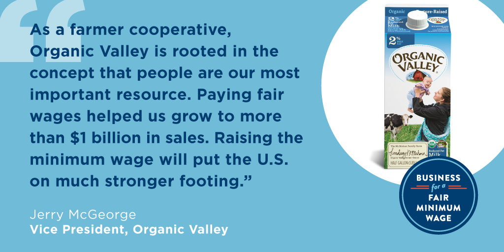 Organic Valley Supports a Fair Minimum Wage
