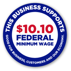 Business Decal to Show Support for a $10.10 Federal Minimum Wage